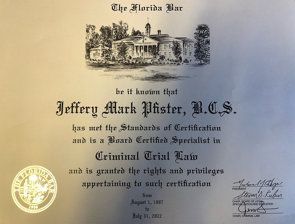 About Your Attorney – Jeffery M  Pfister, P A